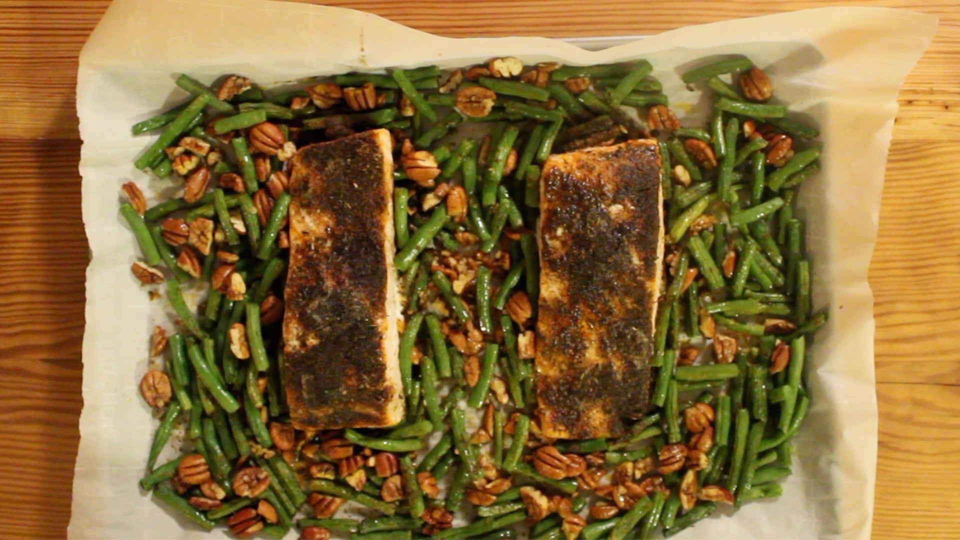 One Pan Oven Blackened Salmon