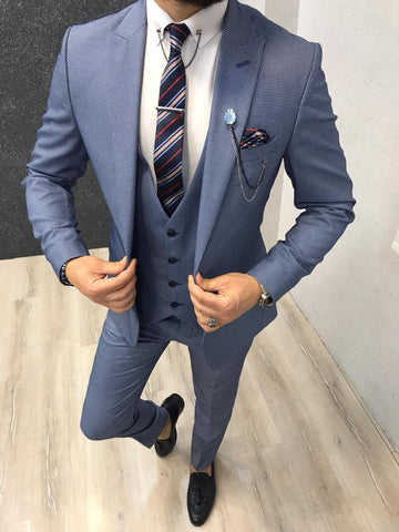 Napoli Sky Blue Suit