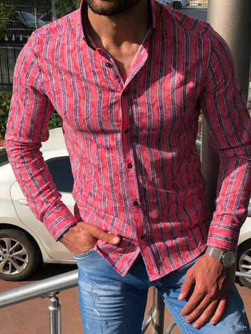 Heritage Retro Pink Striped Shirt