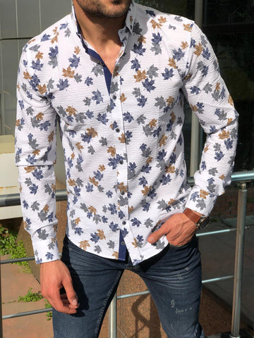 Hemsworth White Floral Shirt