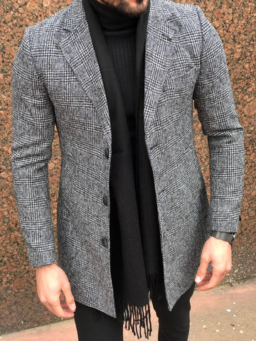 Stafford Grey Slim Fit Coat