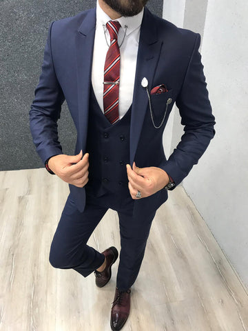 Melage Navy Blue Suit