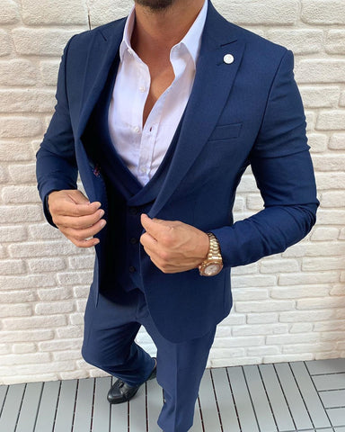 Napoli Blue 3 Piece Suit