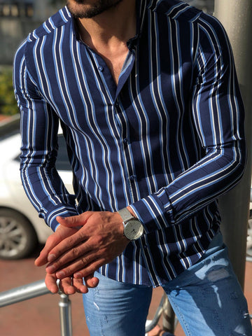 Heritage Dark Blue Striped Shirt