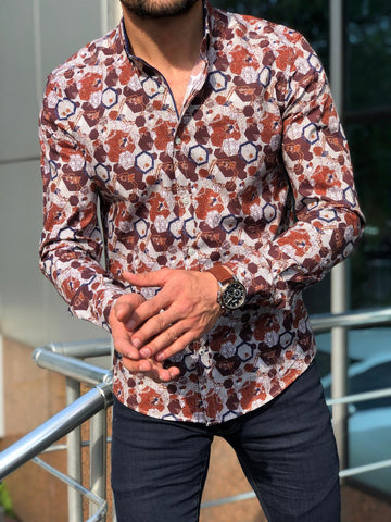 Blake Brown Patterned Shirt