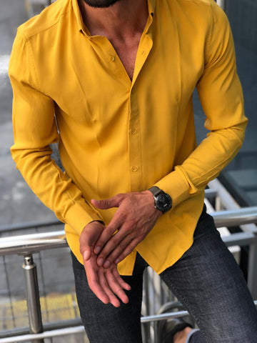 Bellagio Slim Fit Yellow Shirt