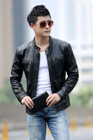 Contemporary Leather Jacket