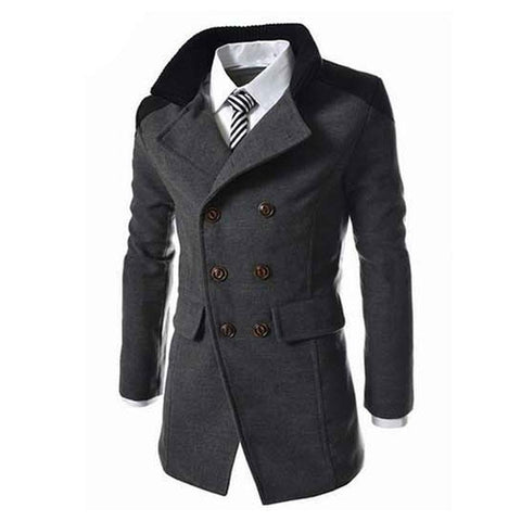 Slim Fit Double Breasted Coat