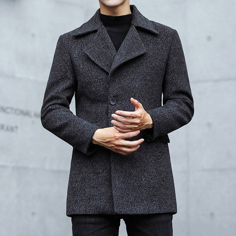 Casual Slim Fit Wool Coat