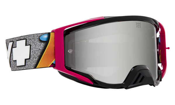 SPY Goggles Mx Foundationplus-kabmc-blackpink-hdsmokewithsilverspectramirror-hdclear