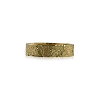 14k Gold Bedrock Band Mens-8.5