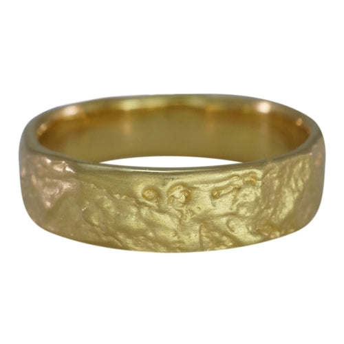 Mens Lava Band 18k Gold