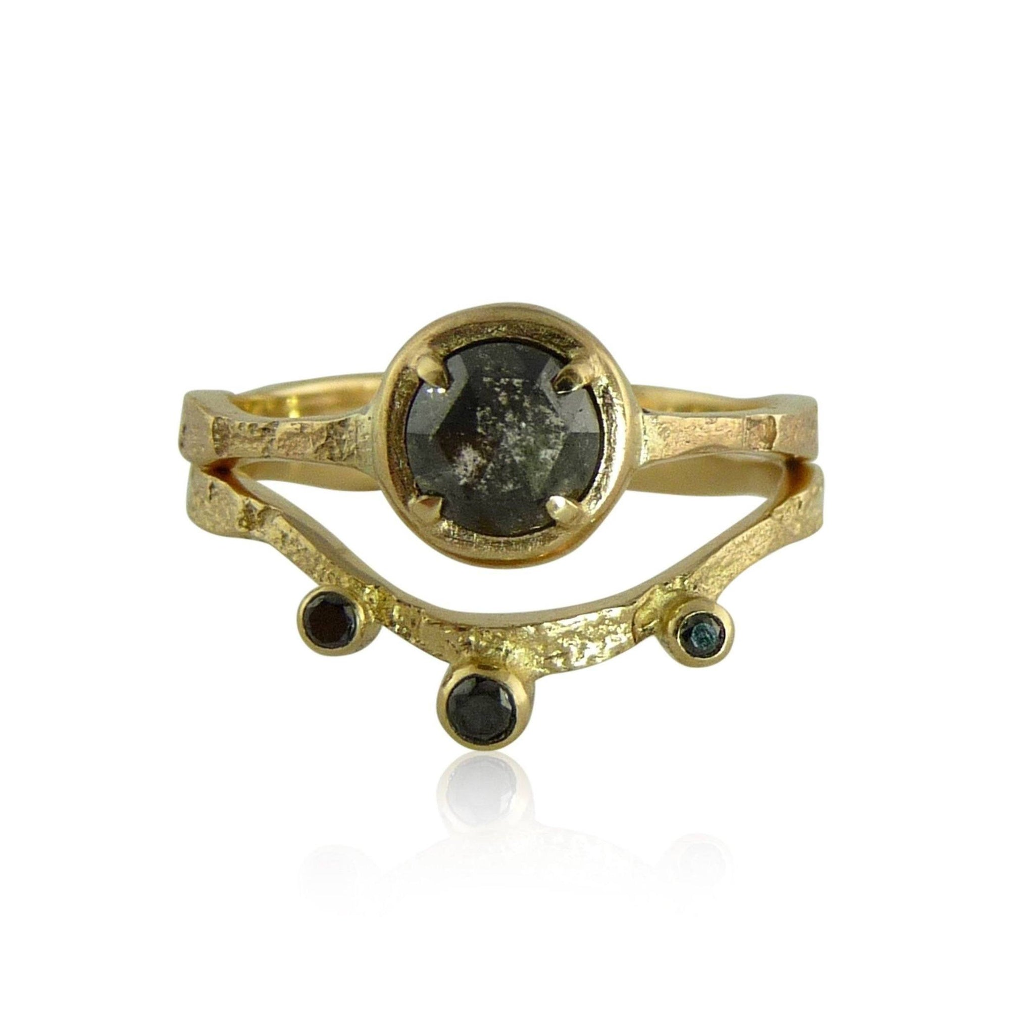Alaria Black Diamond Ring