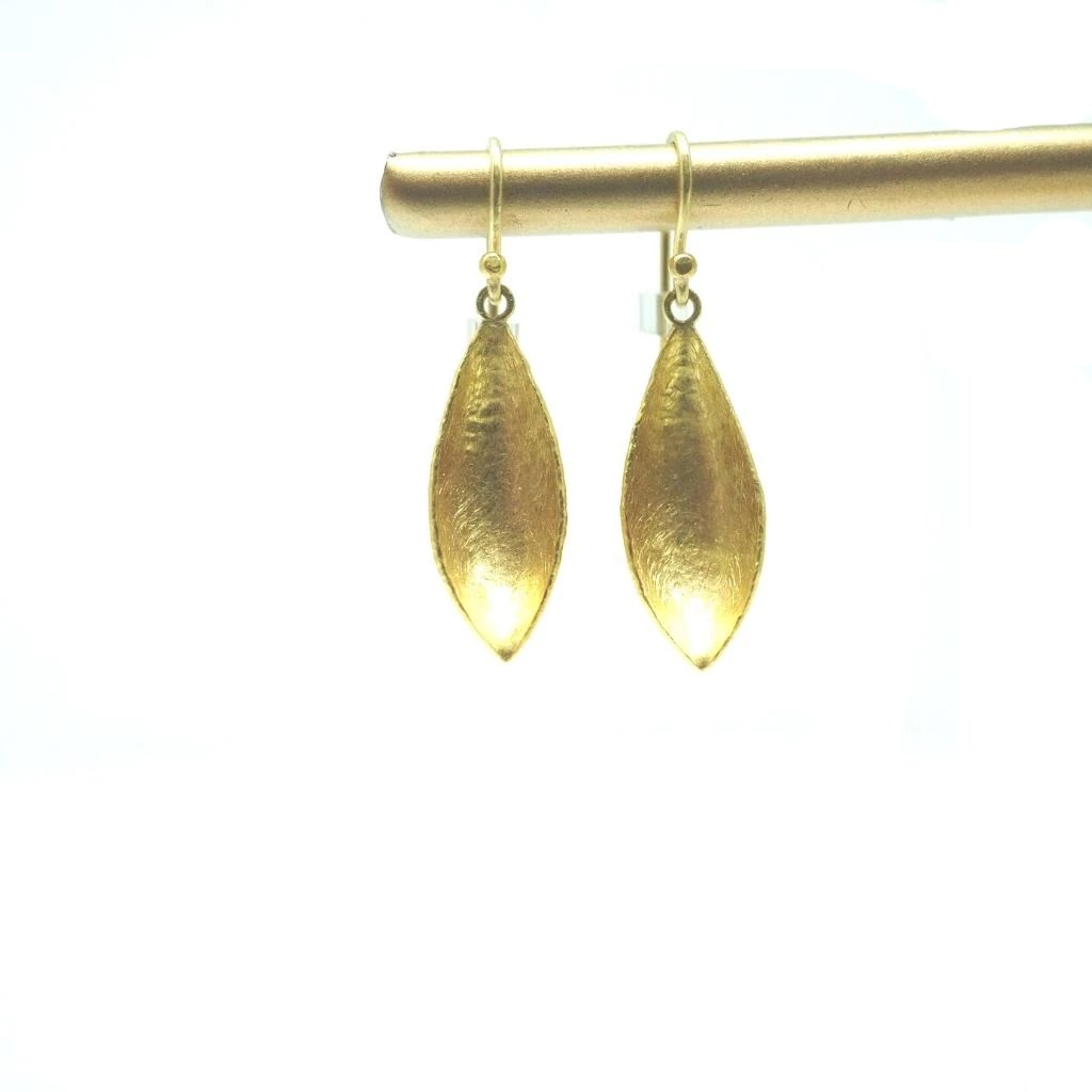 Gold Pod Earrings