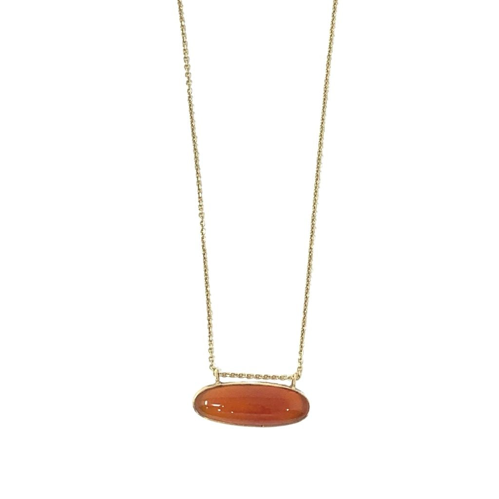One of A Kind 14k Gold Necklace with Carnelian