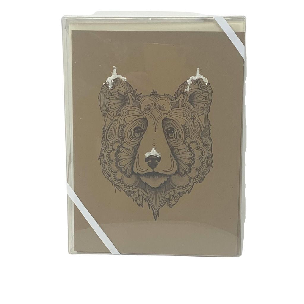 Snowy Bear Winter Card pack of 6