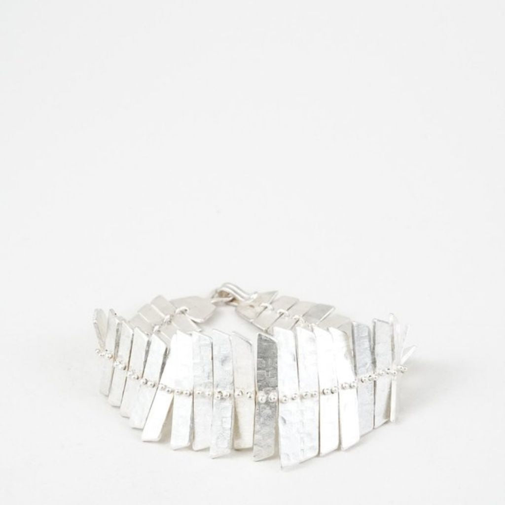Fishbone Bracelet Sterling Silver