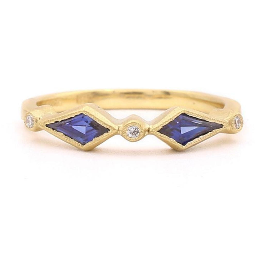 Royal Kite Blue Sapphire Diamond Ring