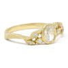Dainty Vine Oval Diamond Leaf Ring