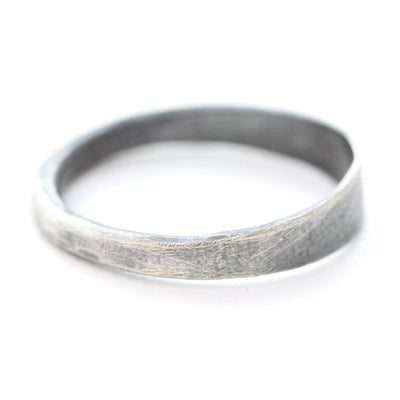 Hammered Oxidized Sterling Silver Ring