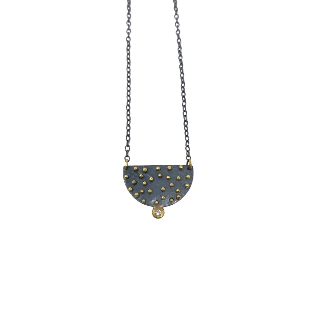 Half Moon Diamond Necklace