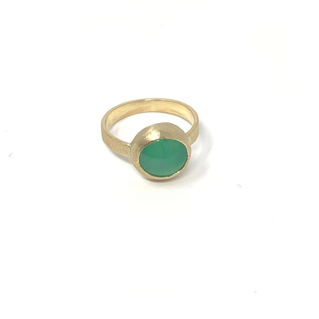 Large Chrysoprase Ring