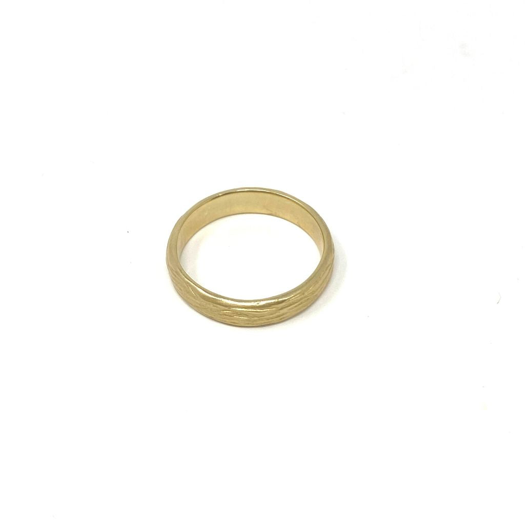 Mens Eucalyptus Band 18k Gold