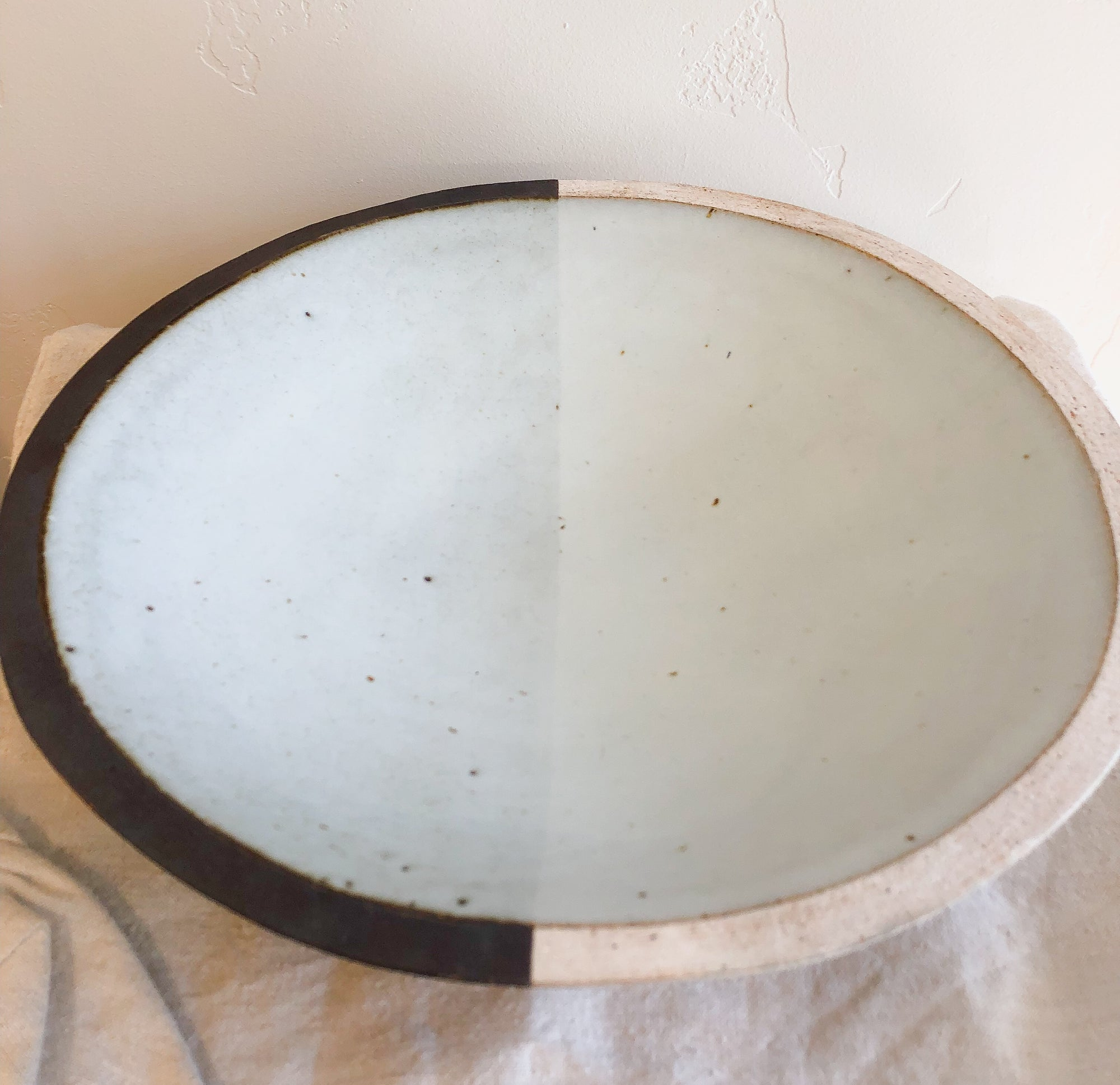 Large Bowl Painted + Half Moon