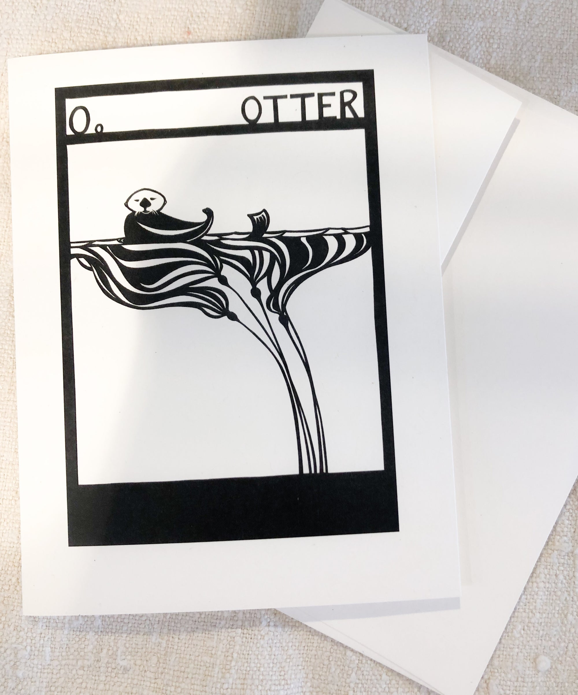 O is for Otter Card