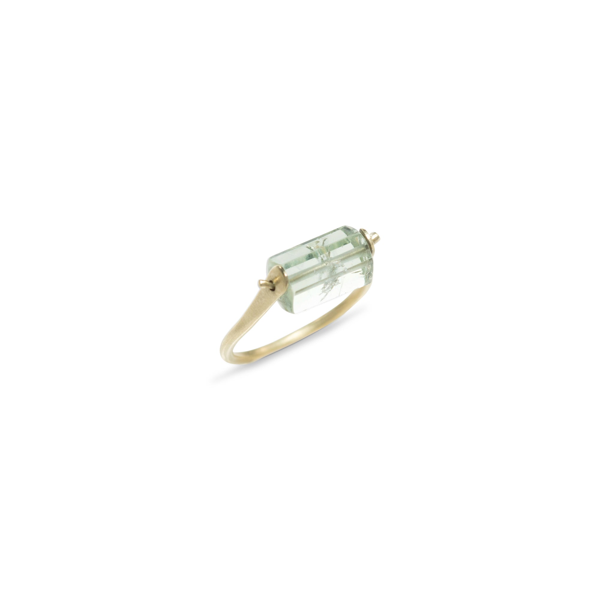 Pinned Beryle Crystal Ring