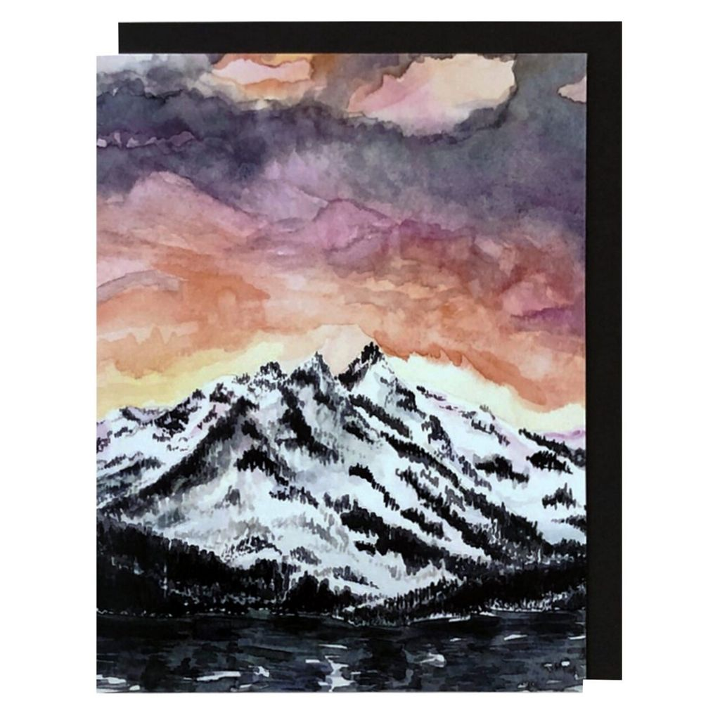 Mount Tallac Sunset Card