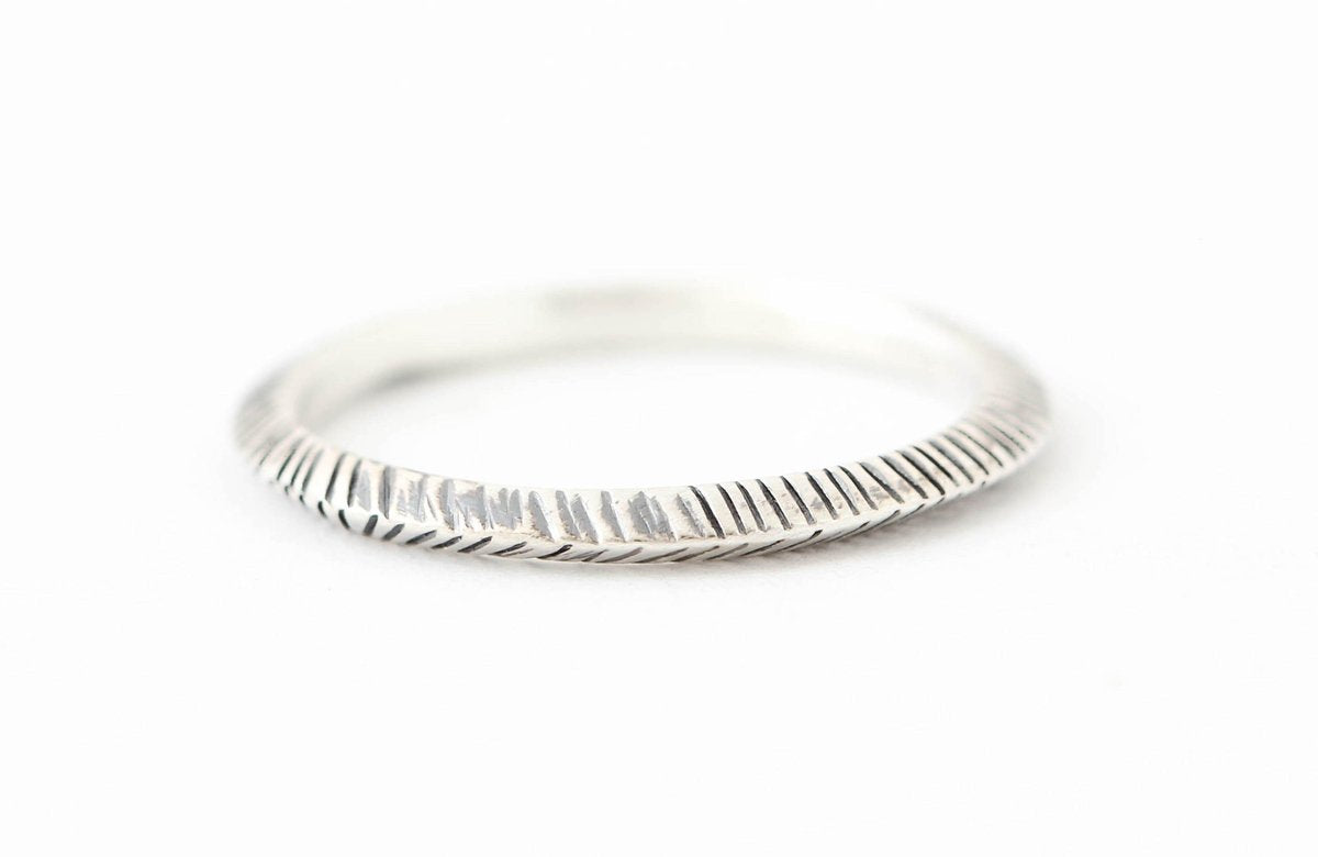 Sterling Silver Peak Ring