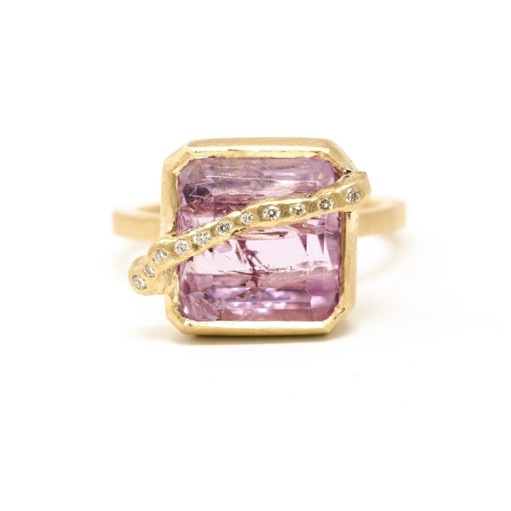 Imperfect Imperial Pink Topaz Ring