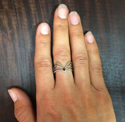 Diamond Winged Ring +Size 6