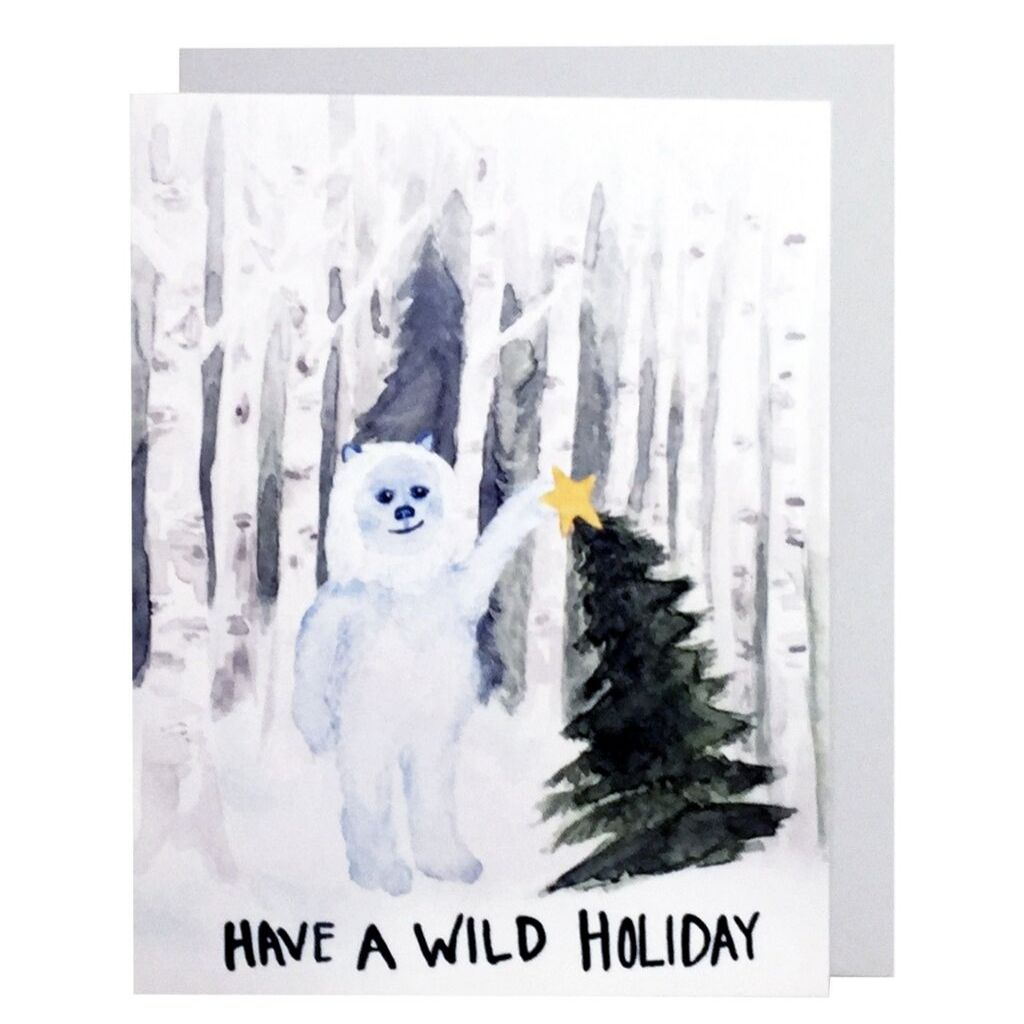 Holiday Yeti Card