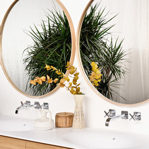 Oak Layers Wall Mirror