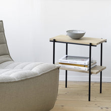 Load image into Gallery viewer, Oak Rise Side Table – Wireless Charging