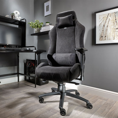 Messina Chenille Black X Rocker® Office Chair (0792001)