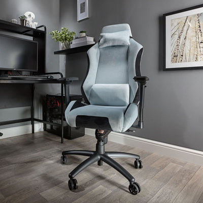 Messina X Rocker® Office Chair - Chenille Silver Grey (0791801)