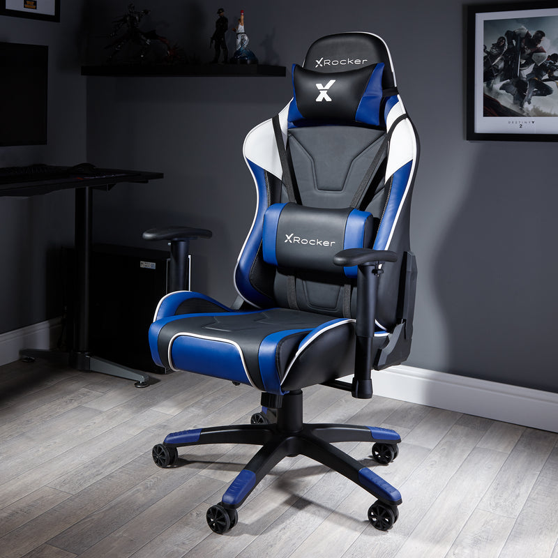 Enjoyable Agility Esports X Rocker Office Pc Chair Blue 0745501 X Uwap Interior Chair Design Uwaporg