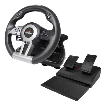 XR Racing Steering Wheel and Pedals for PC, PS4, Xbox One, Switch (5101801)