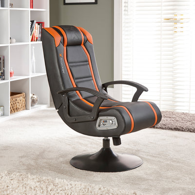 Veleno 2.1 X Rocker® Audio Pedestal Gaming Chair - Orange (5124101)