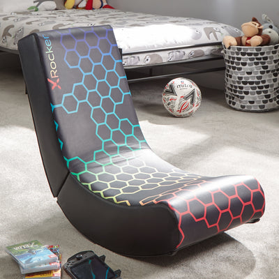 X Rocker Video Rocker Foldable Floor Gaming Chair - Neo Hex Edition (5130201)
