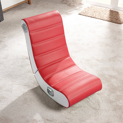 Play 2.0 Floor X Rocker Gaming Chair  (Red) 5181101