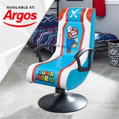 Official Super Mario™ X Rocker 2.1 Audio Pedestal Gaming Chair - Mario Edition