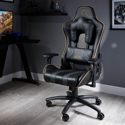 PlayStation® (Officially Licensed) Amarok Gold PC Office Chair (0715901)