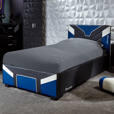 Cerberus X Rocker® Ottoman Gaming Bed - Blue (3 Sizes)