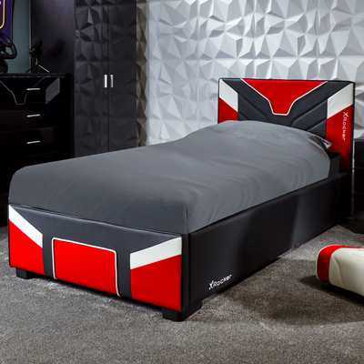 Cerberus X Rocker® Ottoman Gaming Bed - Red (3 Sizes)