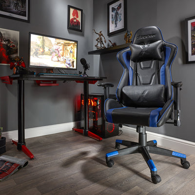 Bravo X Rocker® Office PC Gaming Chair - Blue (0790201)