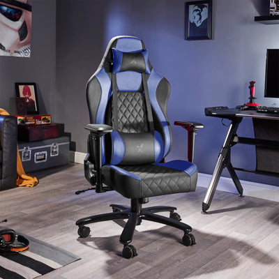 Delta X Rocker Office PC Chair (Blue/Black)